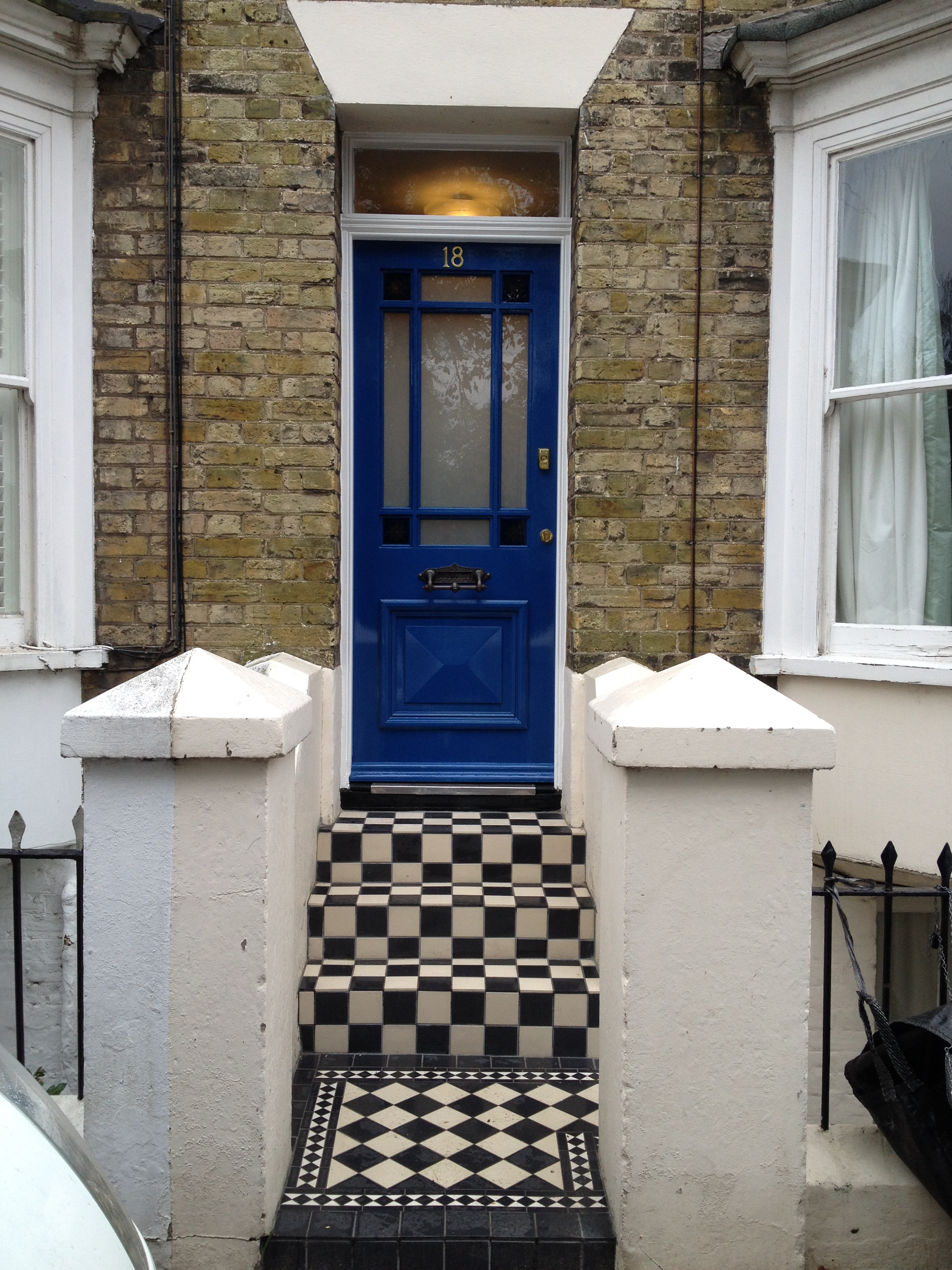 Period Front Door And Floor Tiles